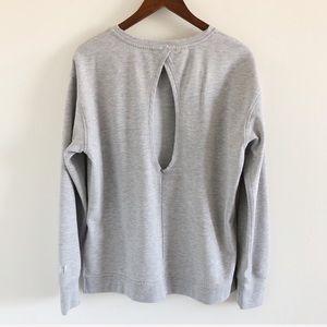 Victoria Sport Gray Keyhole-Back Sweatshirt L